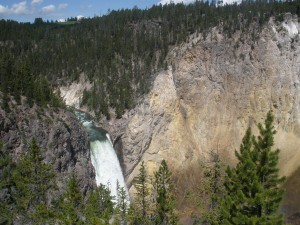 Upper Falls - look closely for the tiny people on the right (spots of colors)
